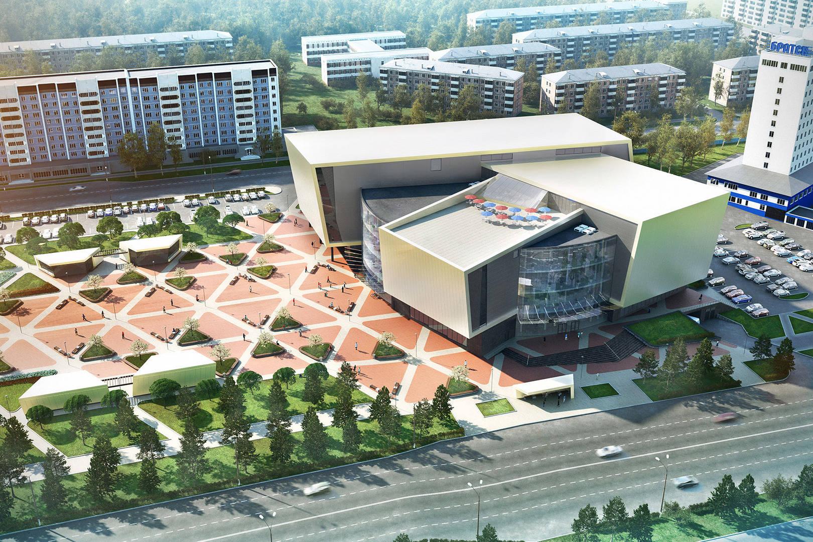 Визуализация проекта торгового центра в Братске.