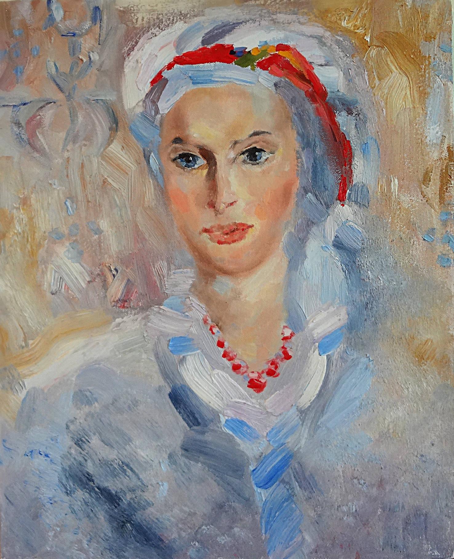 """Девушка в чалме"", 40-50 painting ""Girl with a turban"""