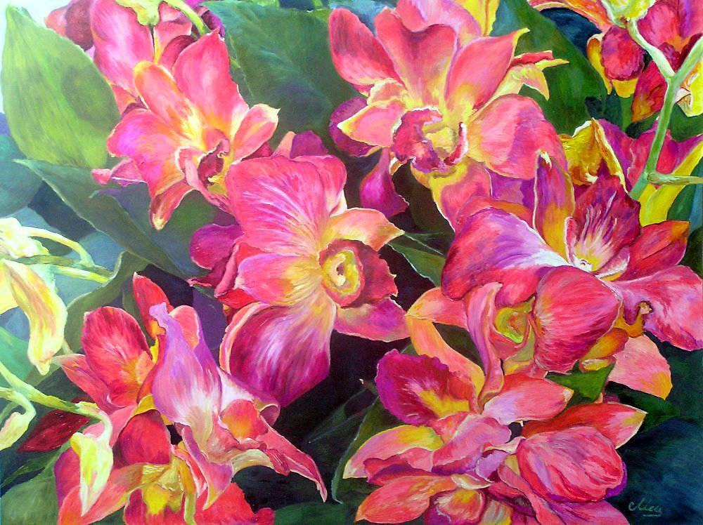 Цветочная композиция, холст, масло, 50*65, 2011 г