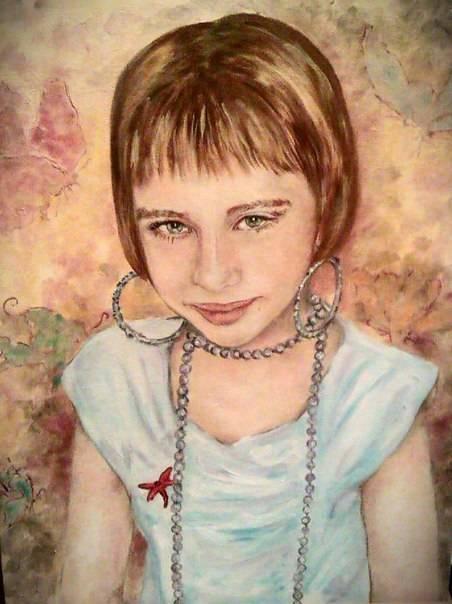 Портрет девочки, холст, масло, 40*30, 2014 г