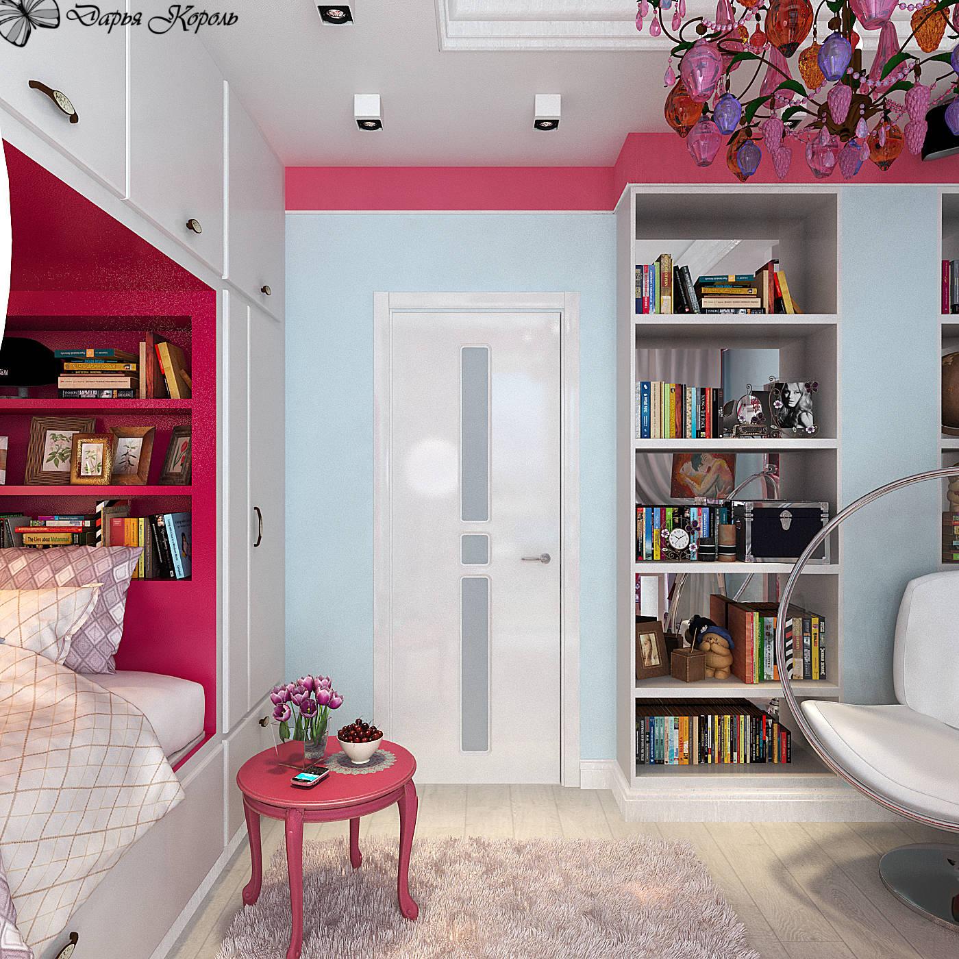 Детская комната с розами