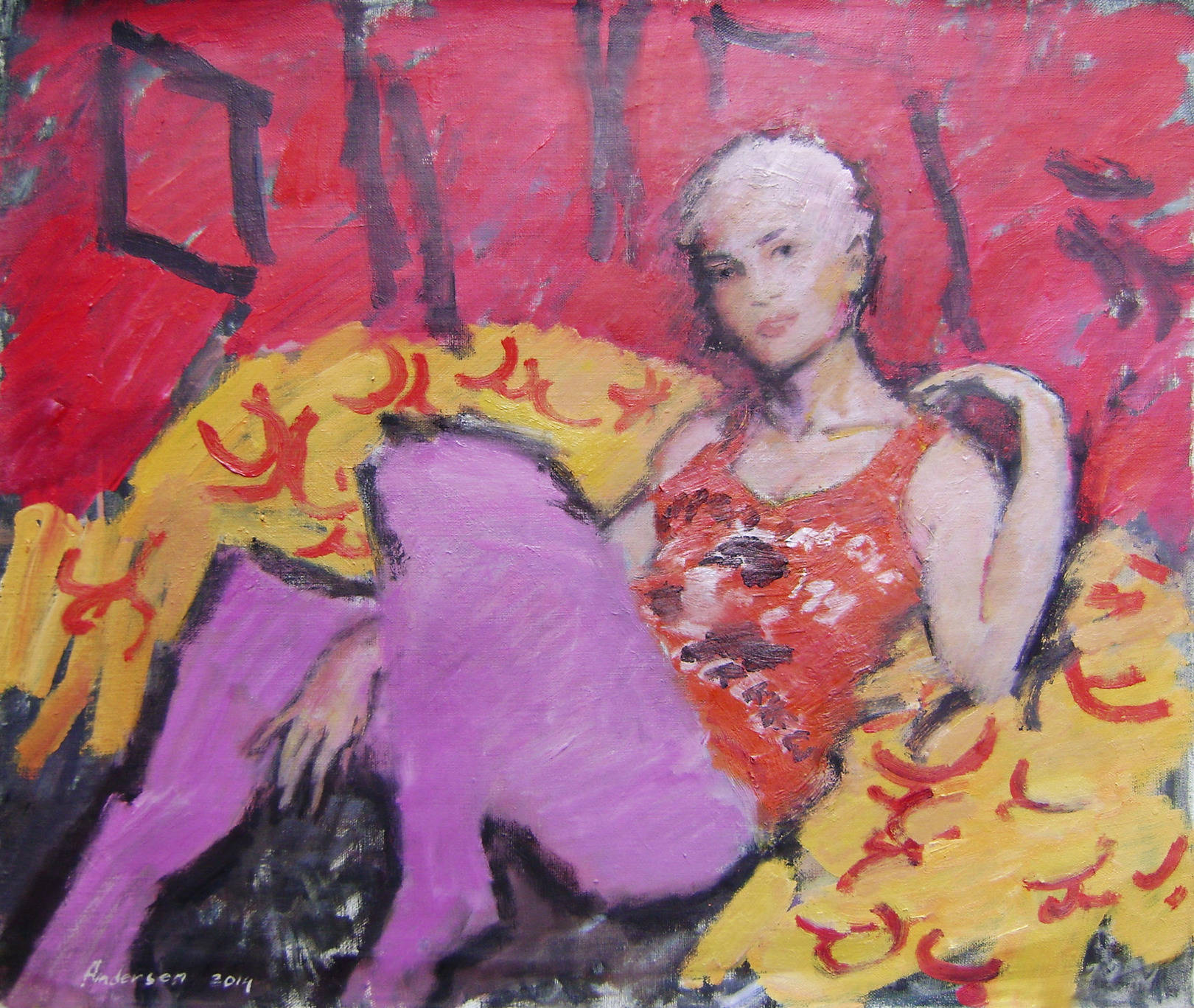 girl in a chair