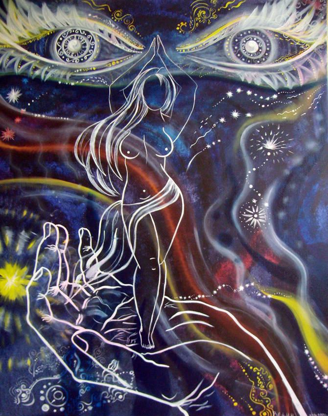 """""""Ночь Востока"""" Картина в Авторской технике. Картина на холсте. Картина продается."""