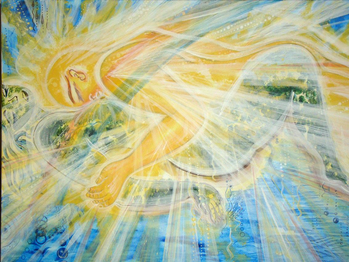 """""""Любовь Земли и Солнца"""", холст, акрил. 60х80см. Продается Картина в Авторской технике. Картина на холсте. Картина продается."""
