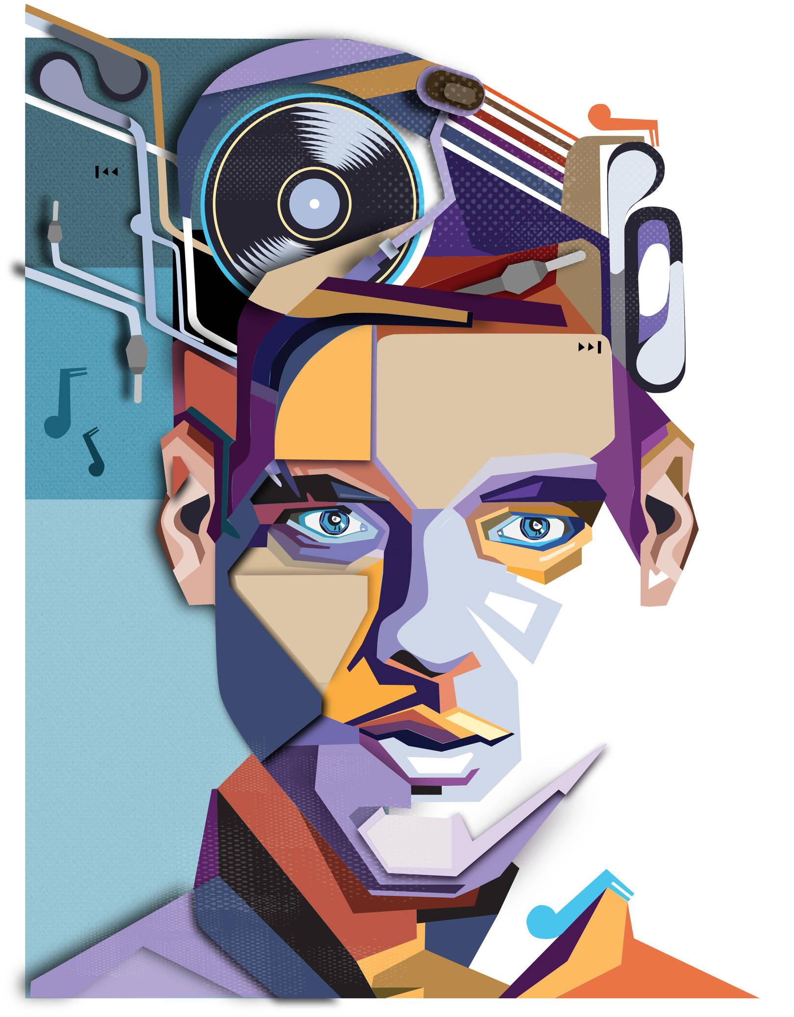 Обложка музыкального журнала. Работа выполнена в векторной программе