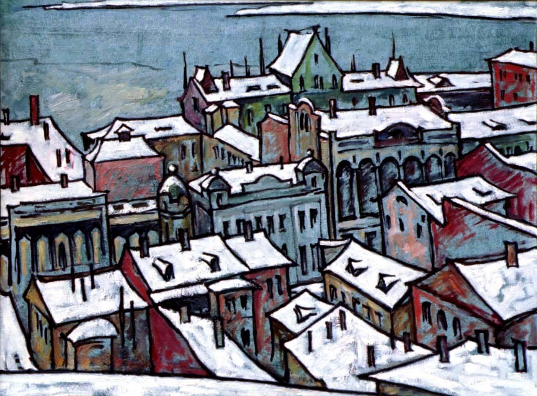 Крыши под снегом. Н. Новгород х.м. 60х80 1998