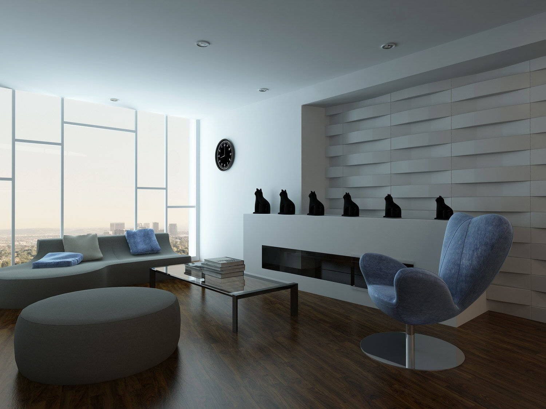 3D стеновые панели гипс
