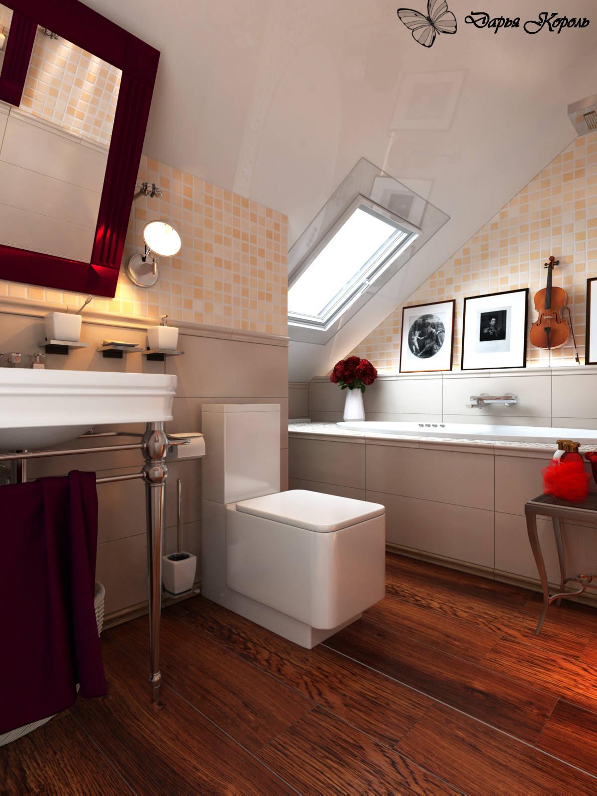 Романтическая ванна на мансарде