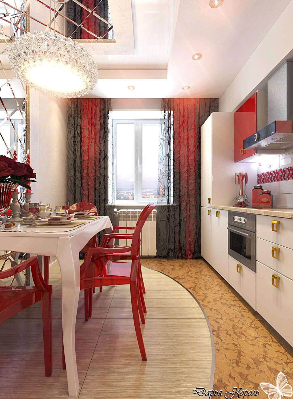 Кухня с глянцевым гламуром