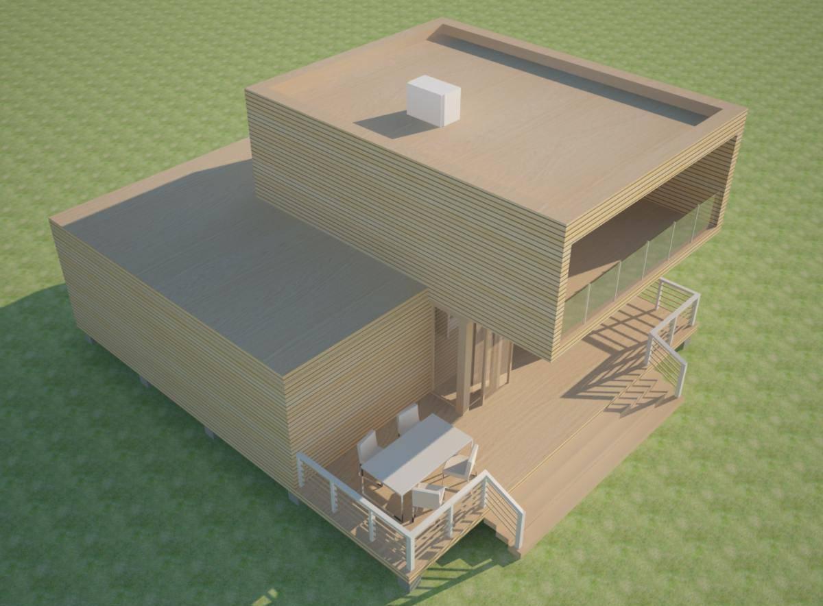Дачный дом с баней