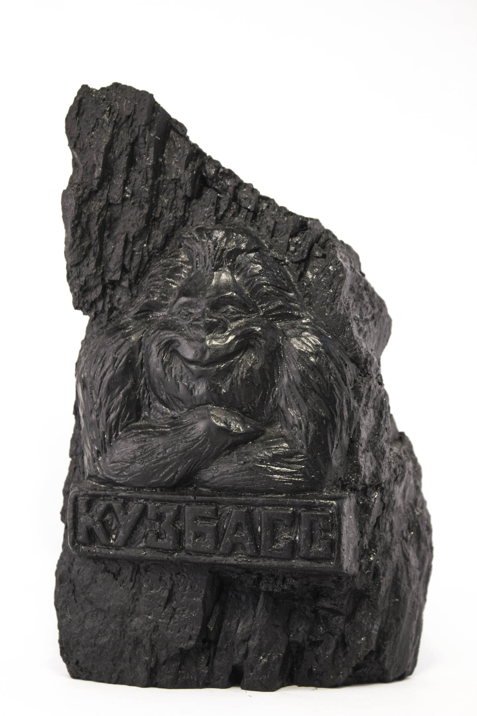 Йети - символ Кузбасса. Высота 19 см Материал - уголь