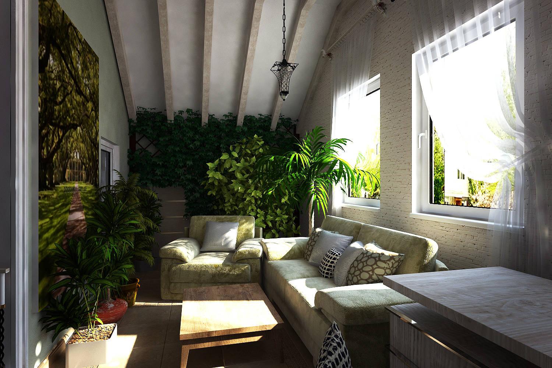 Мансарда и балконы