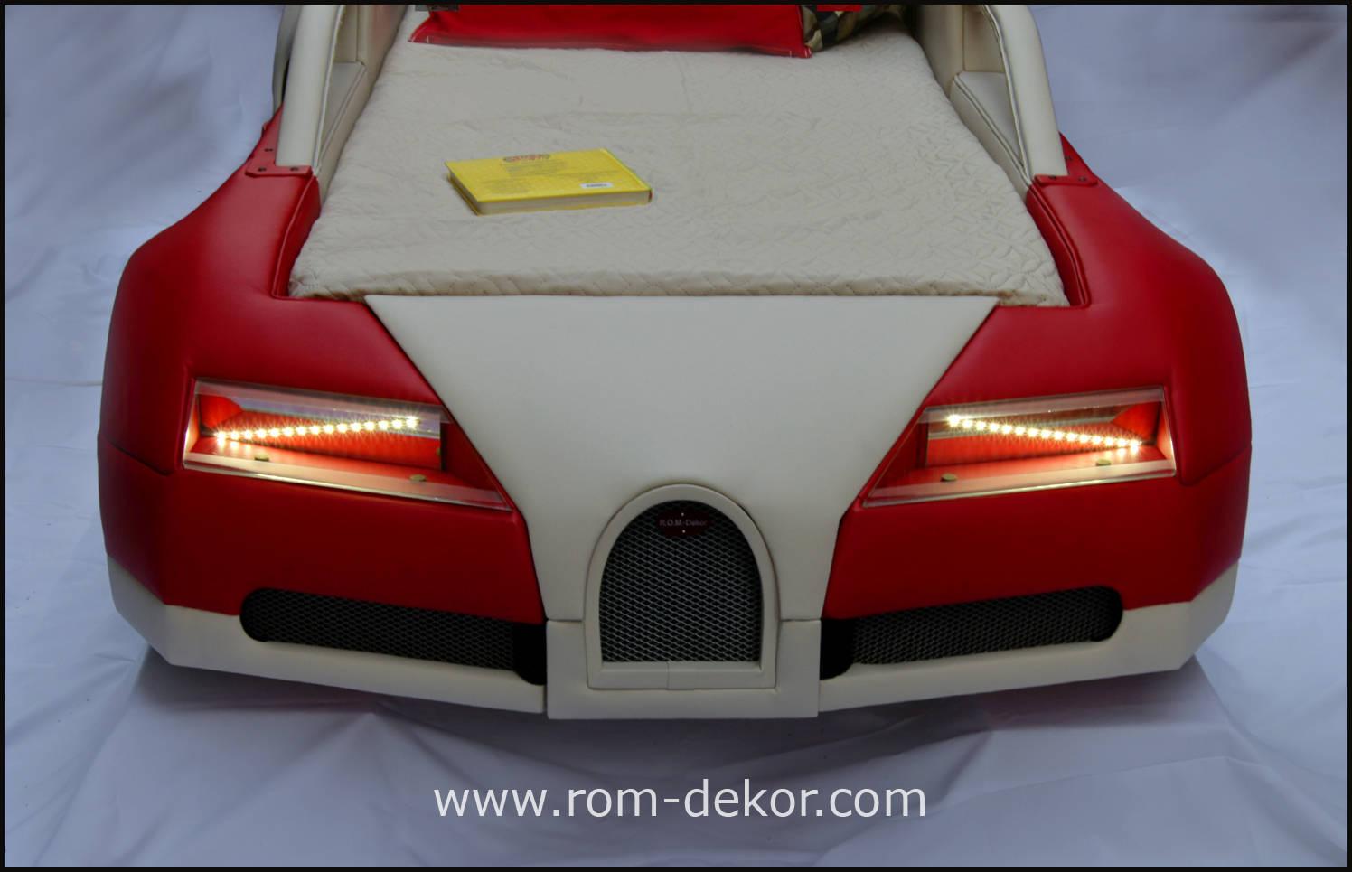 """Детская кровать """"BugaTTi Veyron BR"""". Ручная работа. Кожа."""