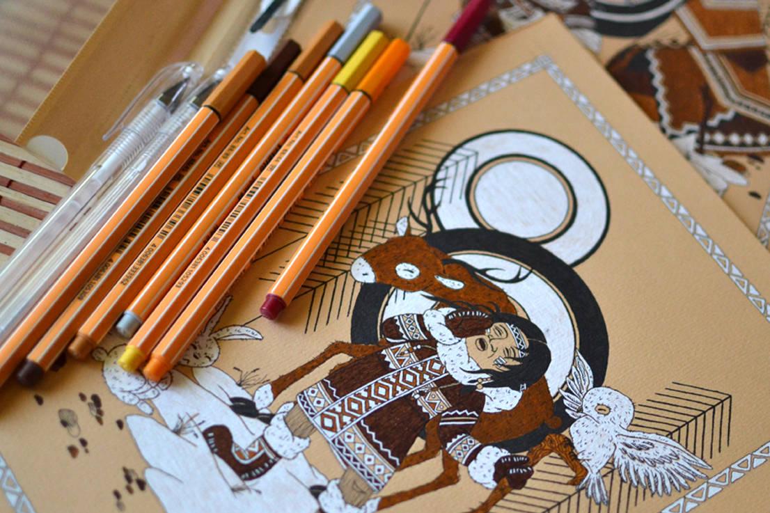 Цветные капиллярные ручки STABILO point 88.