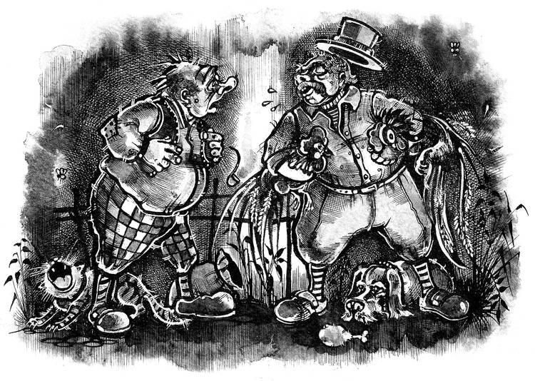 Петухи. Иллюстрация к книге рассказов А.Краузе.