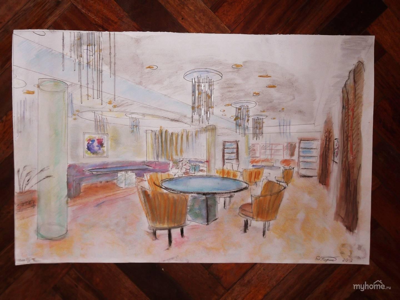 Эскизы дипломного проекта гостиницы Дарья Поршнева vatikam Эскизы дипломного проекта гостиницы Первоначальный эскиз кафе гостиницы