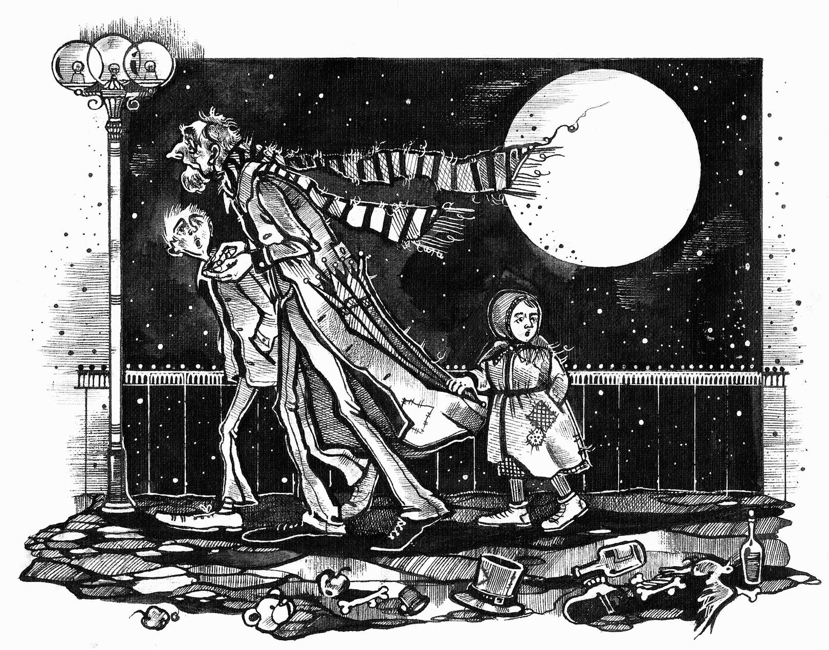 В поисках добра. Иллюстрация к рассказам А. Краузе.