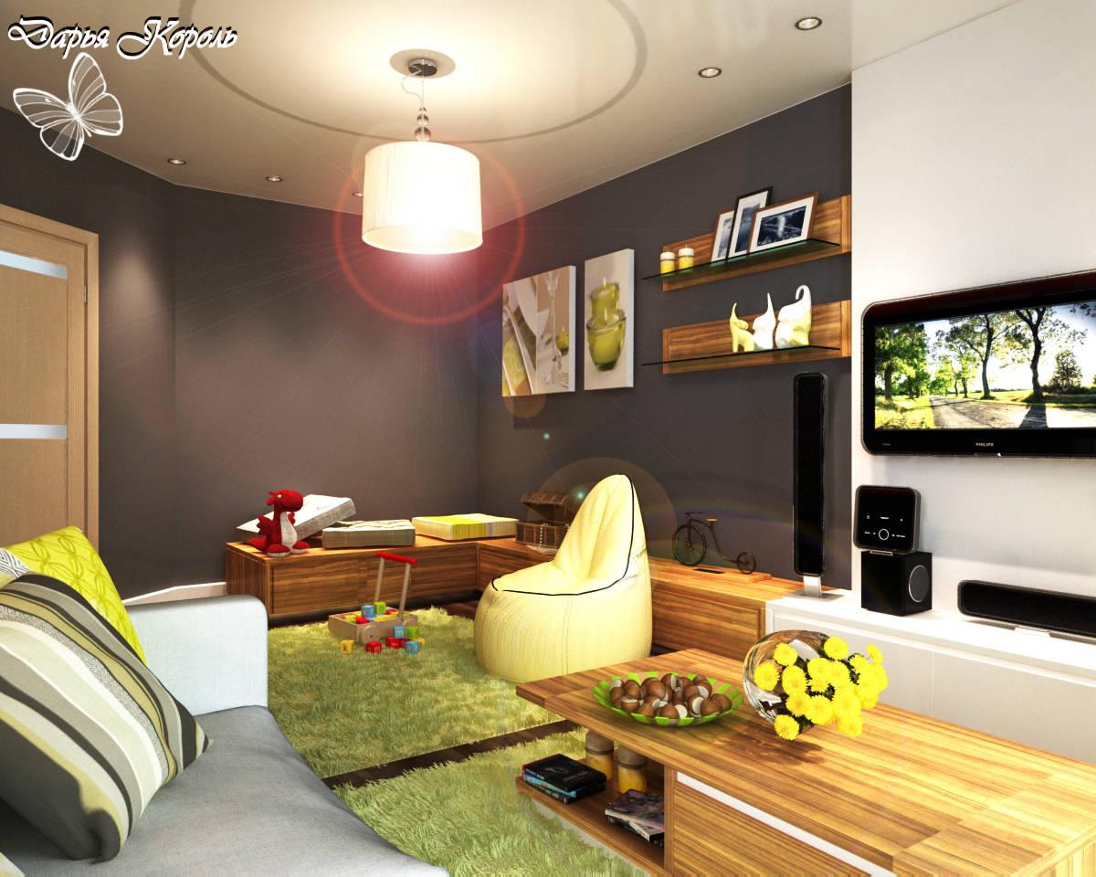 кухня-гостиная с игровым уголком