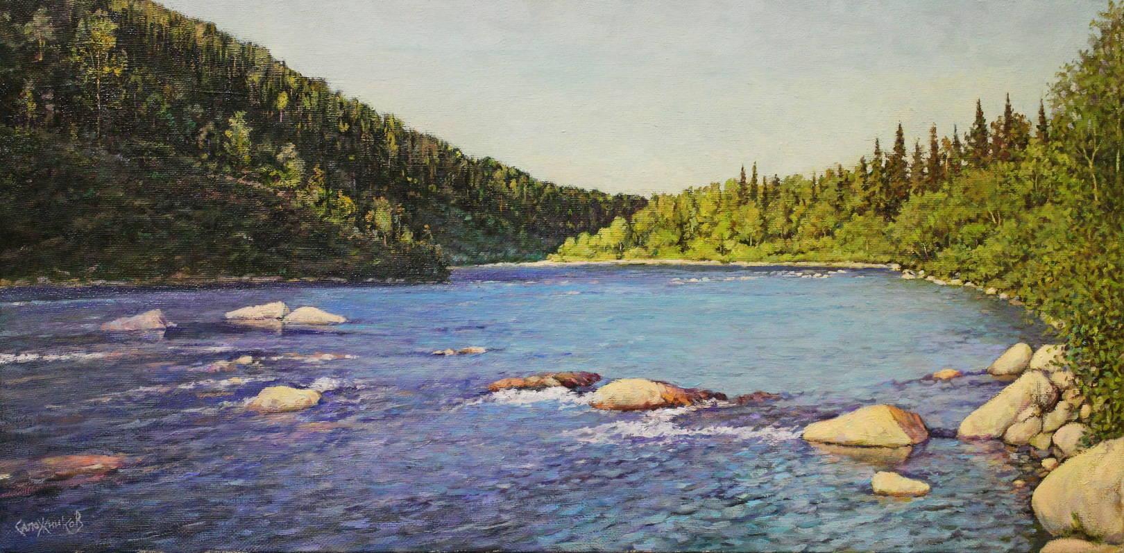 На горной реке