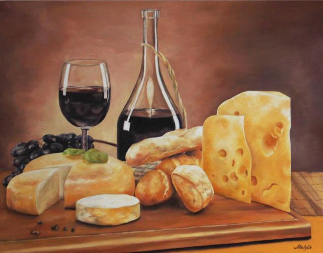 """Богатство вкуса""  Натюрморт.  Масло, холст, размер 90х70 см."