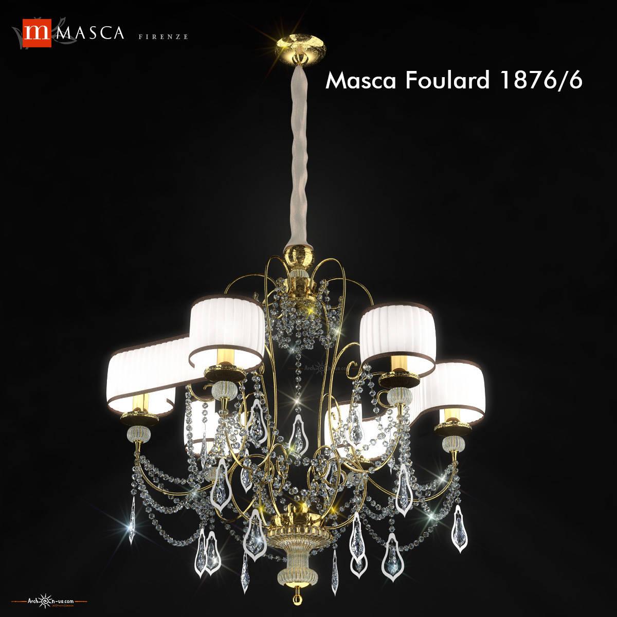 3d model of candel Masca Foulard 1876 6