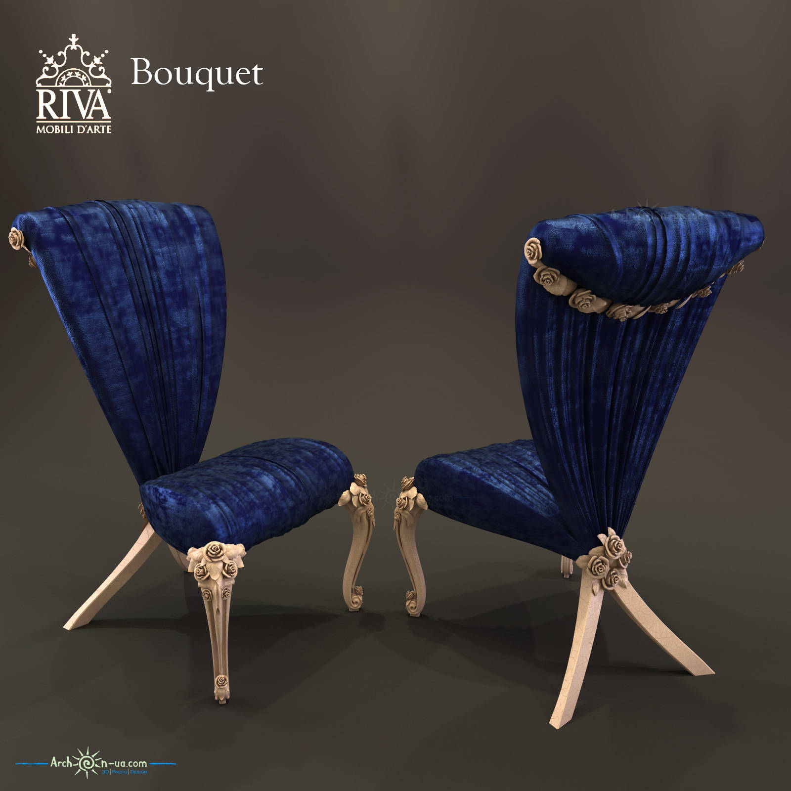3d model Bouquet Riva Mobili D'Arte chair