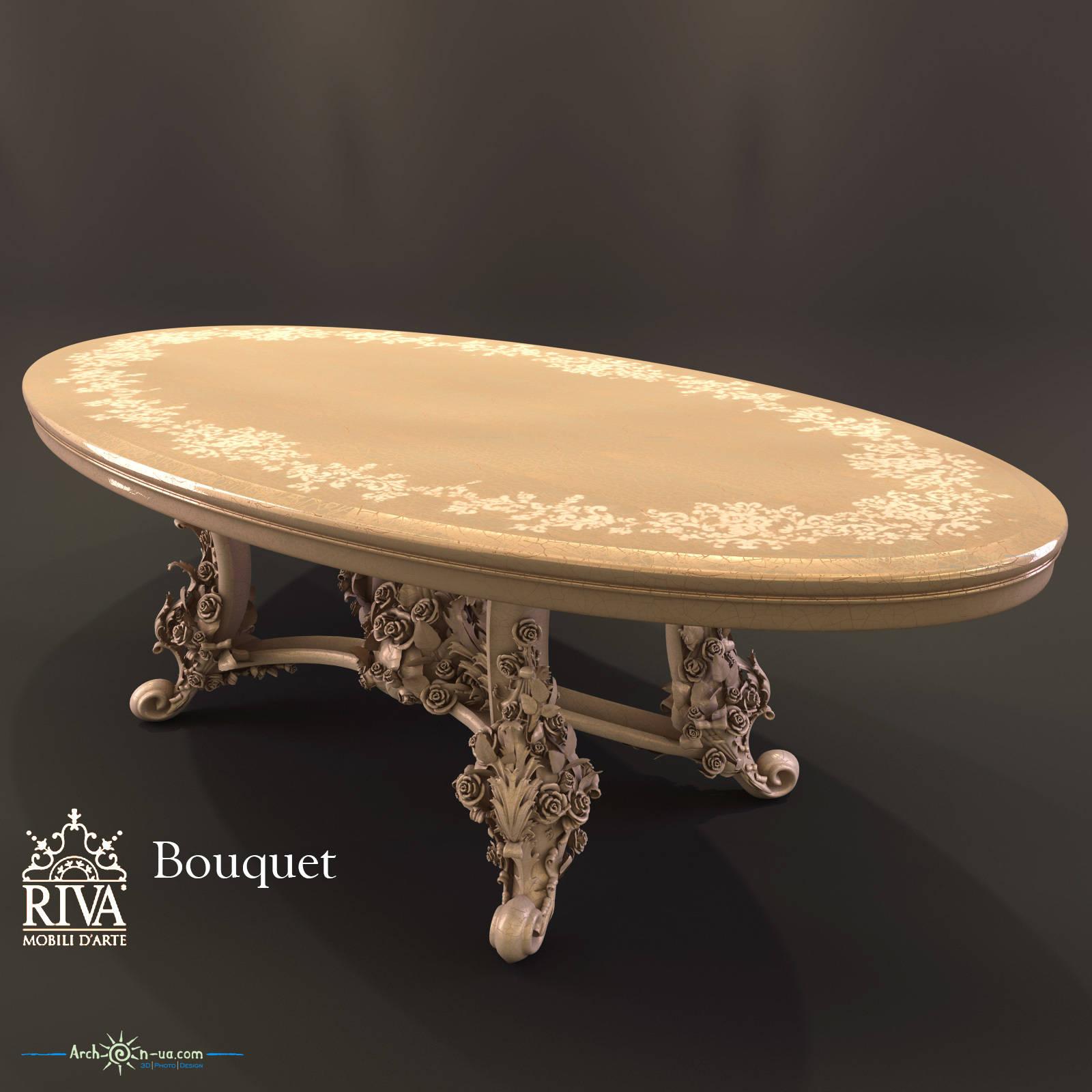 3d model Bouquet Riva Mobili D'Arte table