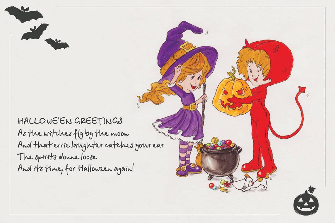 Pumpkin as a gift (тыква в подарок). Открытка к Halloween 10x15 см.