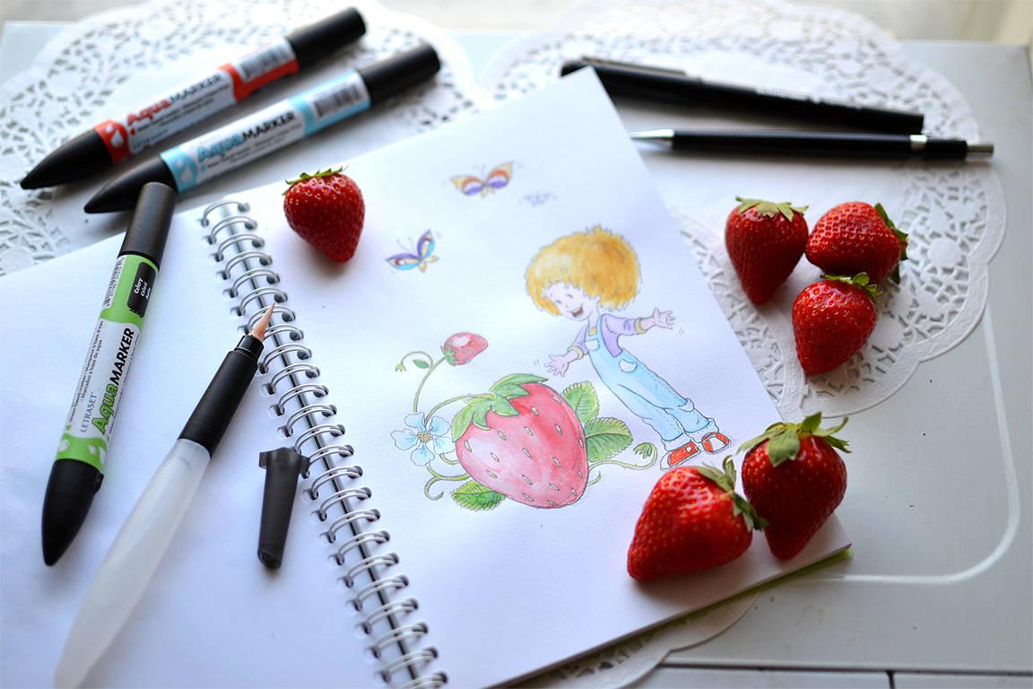 Ripe strawberry (спелая клубника)
