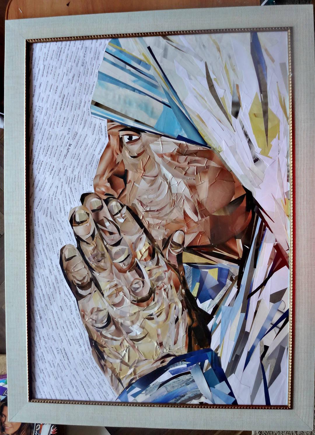 """Картина-коллаж """"Мать Тереза"""""""