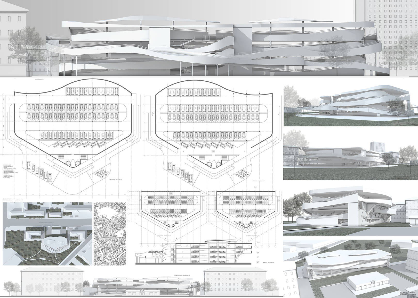 project of parking, Moscow, Russia