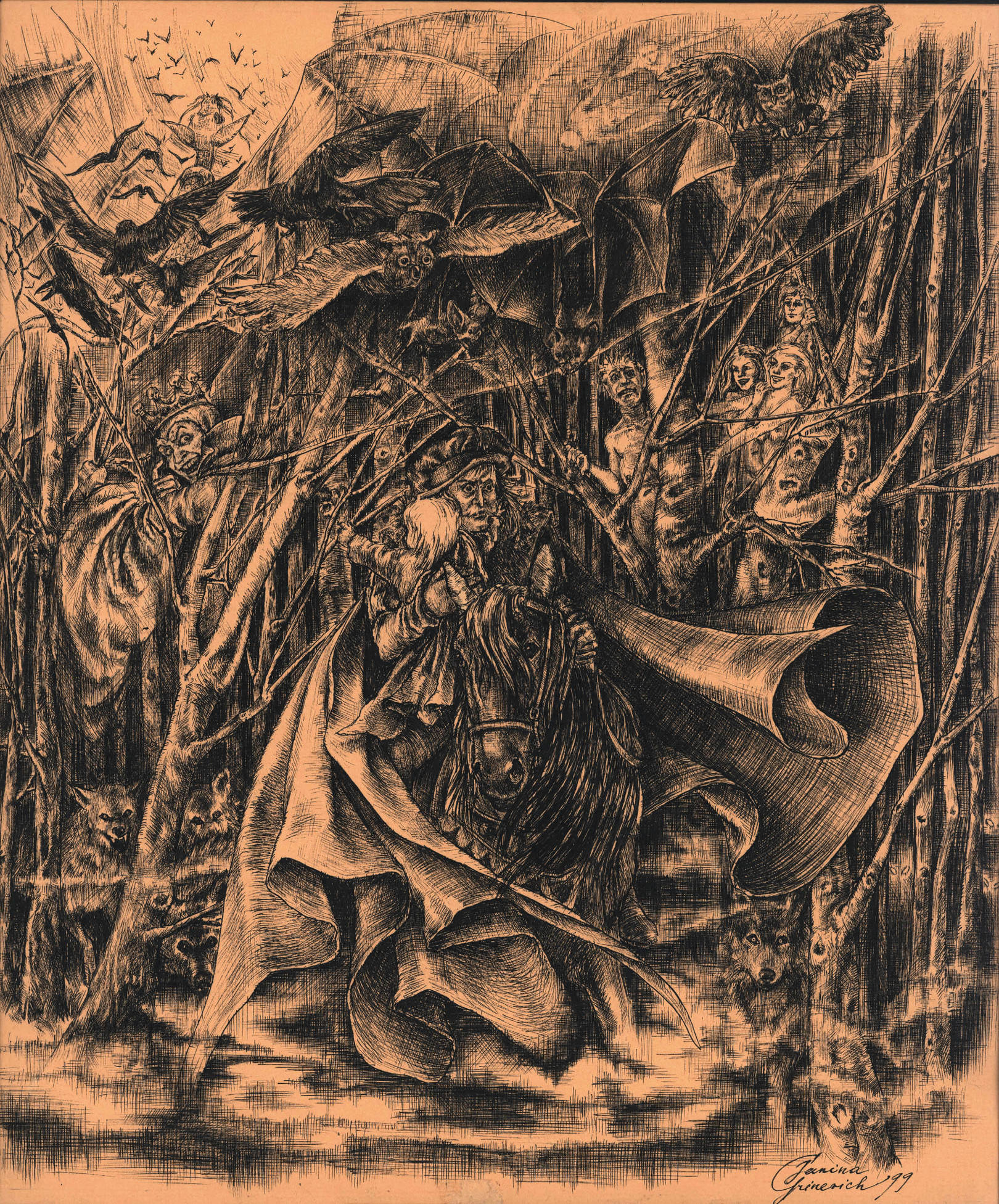 "J.W.Goethe ""Wood King"""