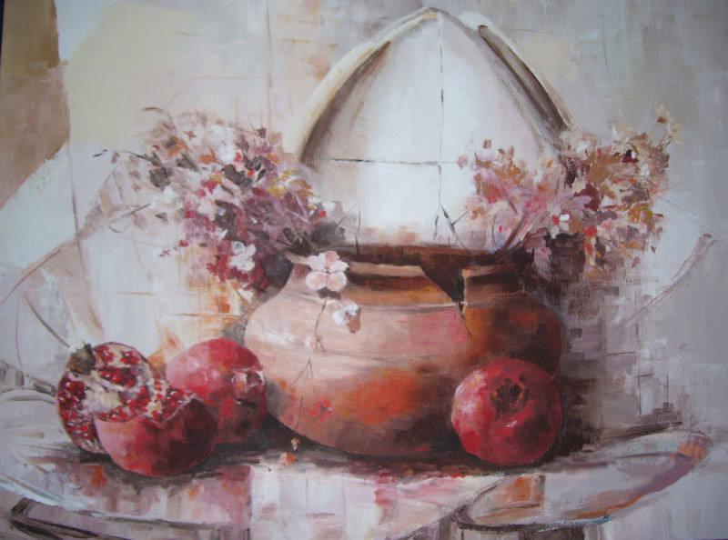 oil, canvas