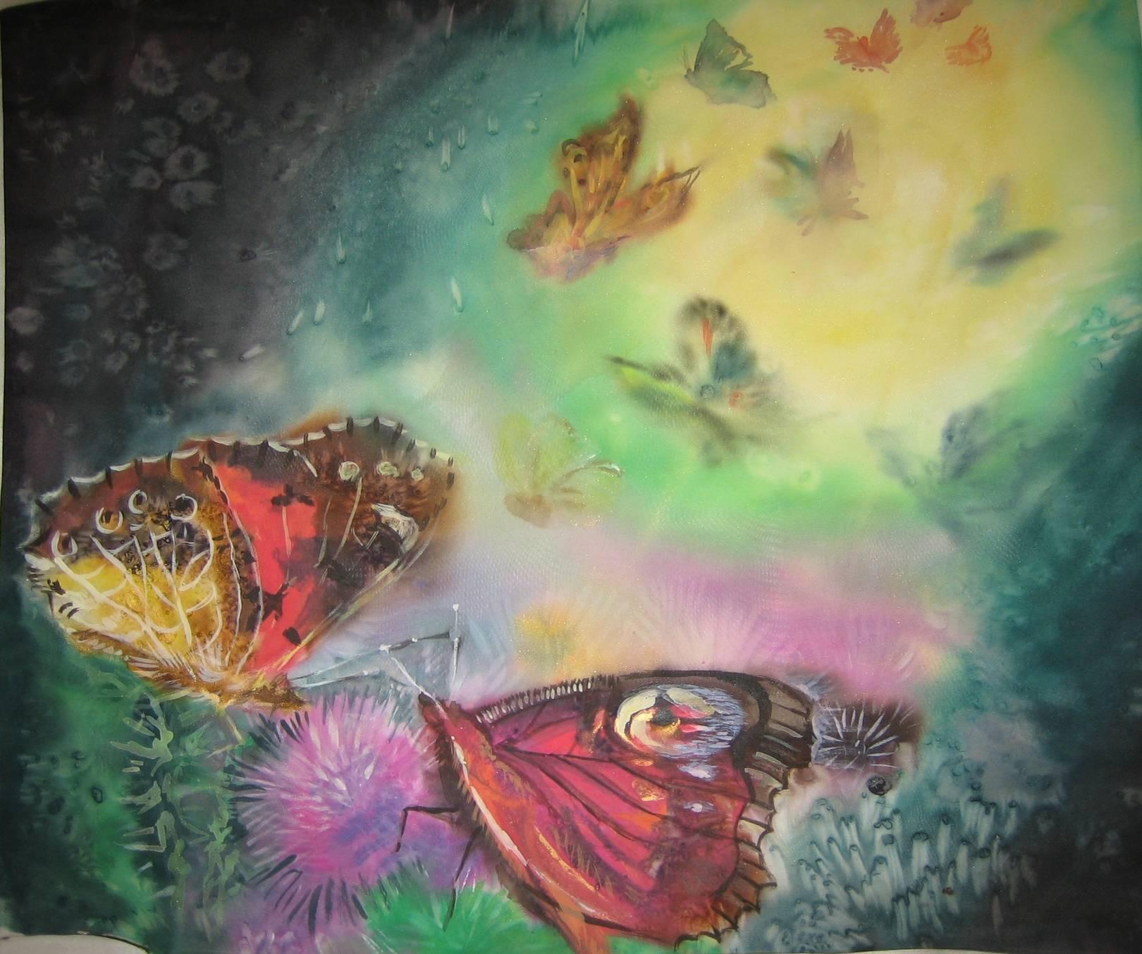 """Панно""""Бабочки"""" 30х30"""