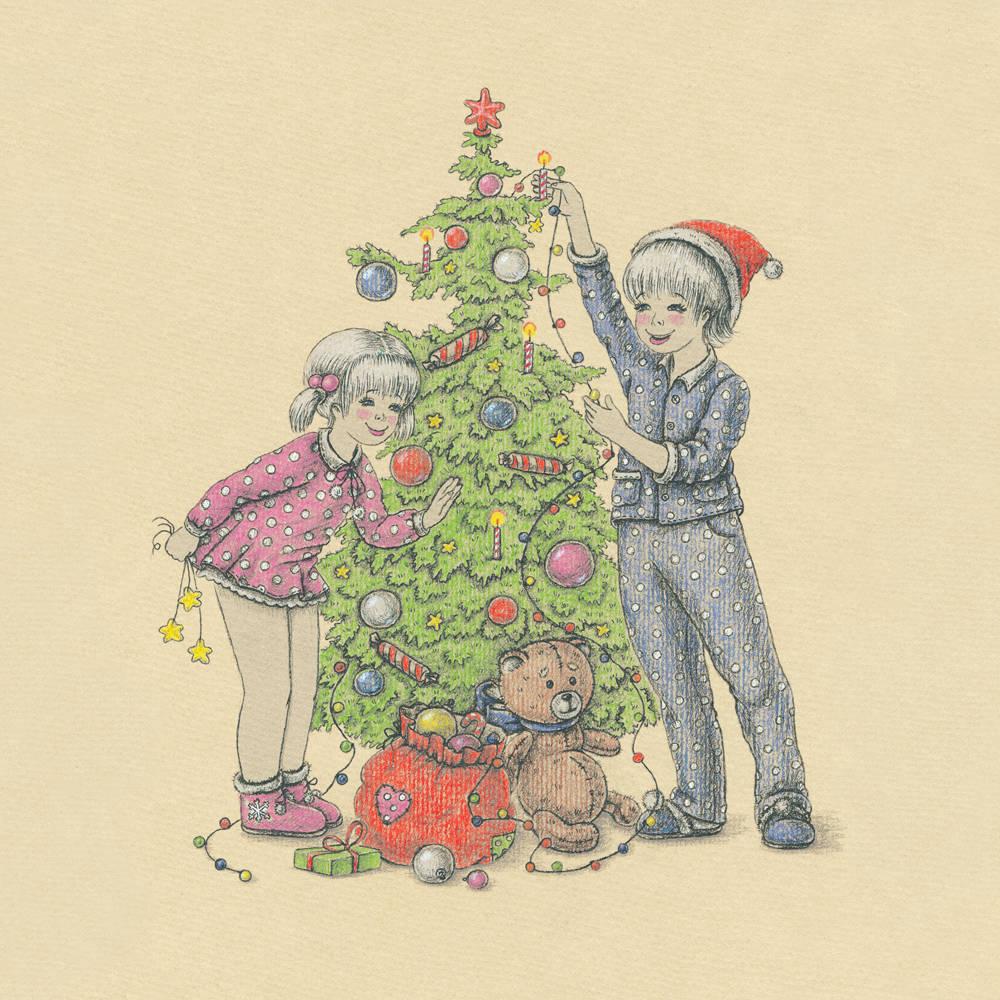 """Christmas tree (новогодняя ёлка). Иллюстрация для проекта Arti posti.  Так же работа принемала участие в конкурсе """"Назад в детство!"""" 2014 год"""