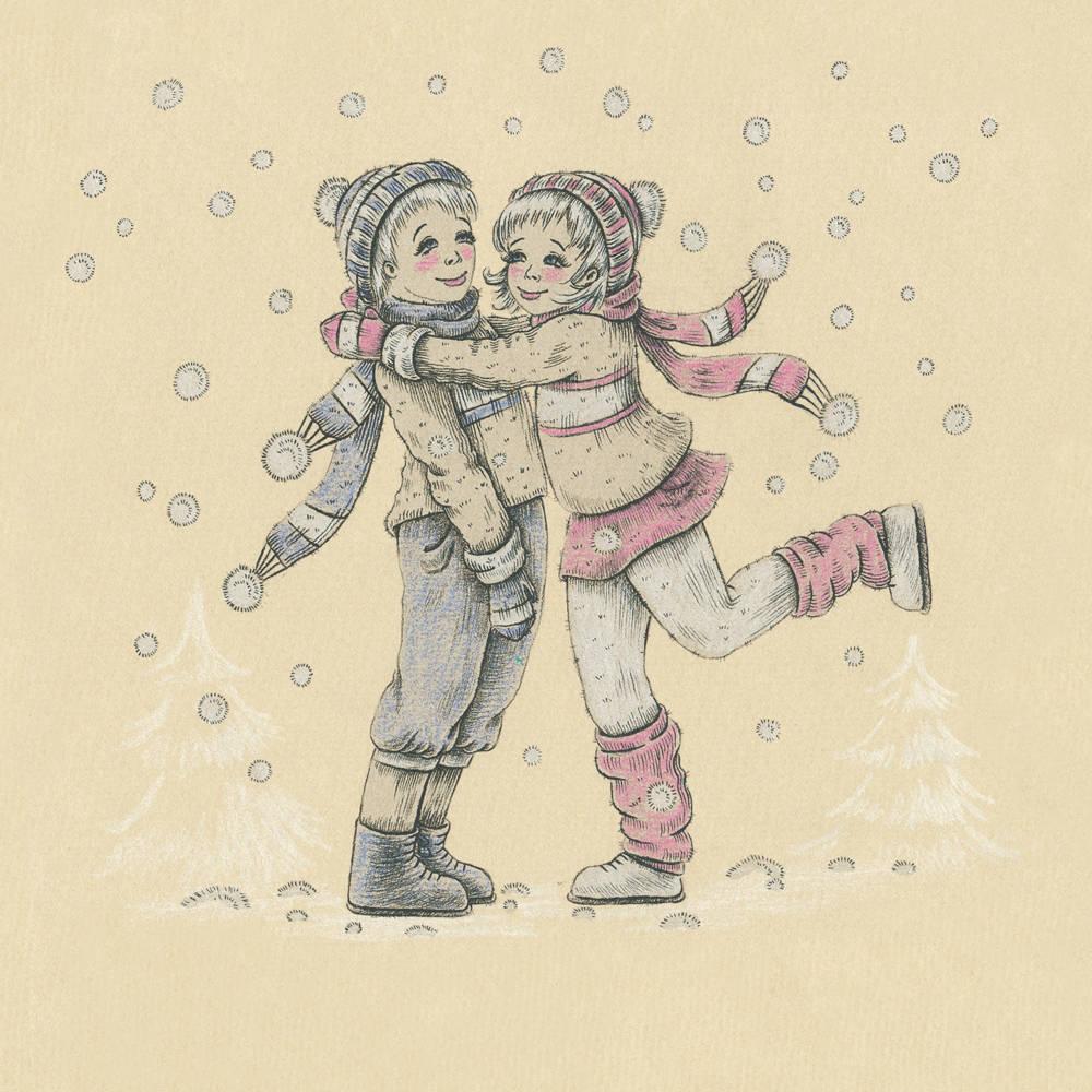 """Embrace you (обнять тебя). Открытка для проекта Lovislova. Так же работа учавствовала в конкурсе """"Калейдоскоп открыток"""" 2013-2014 гг."""