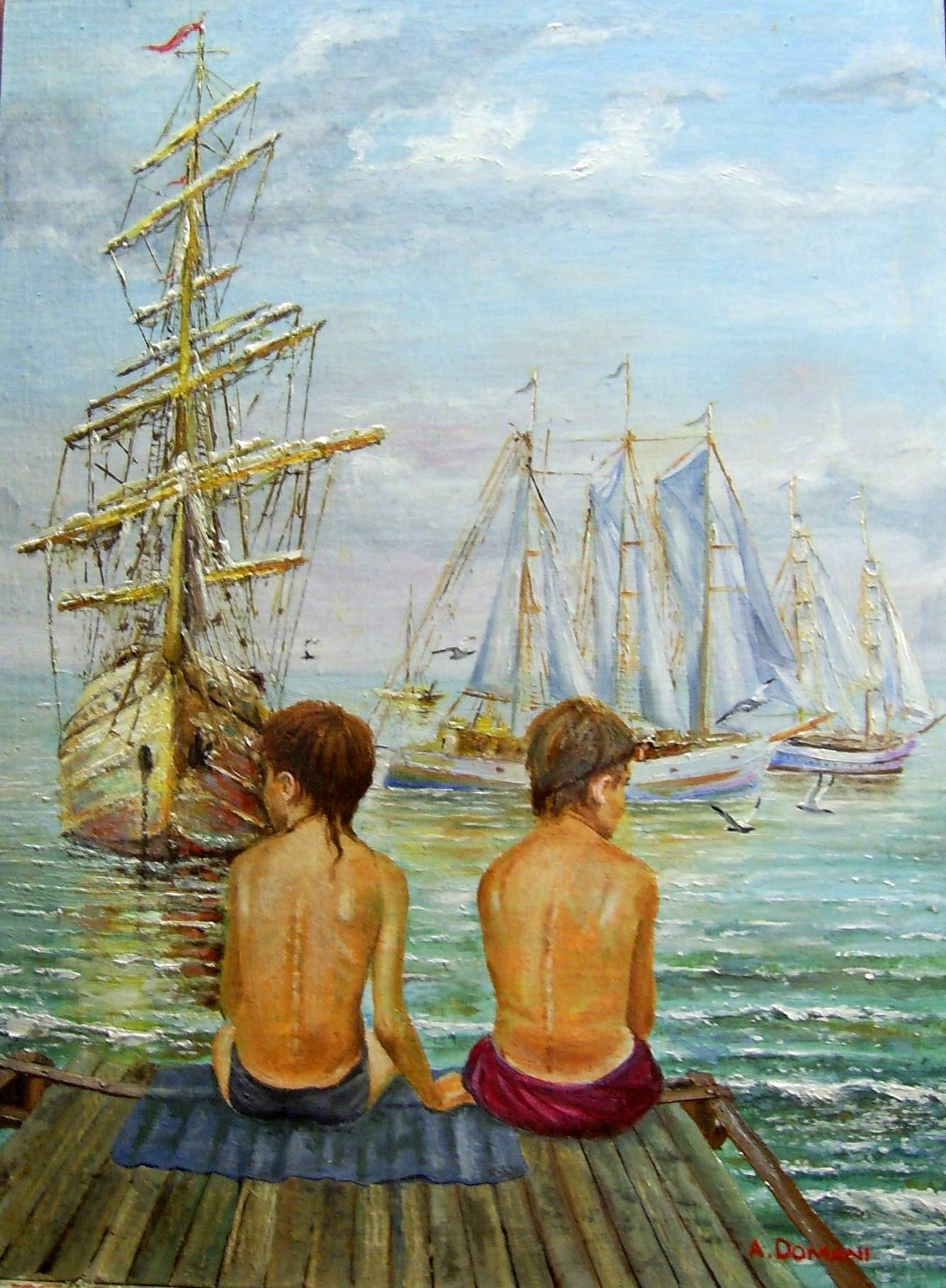 ... а мальчишкам снились якоря ( холст , масло , 62 х 46 ) Мой импрессионизм