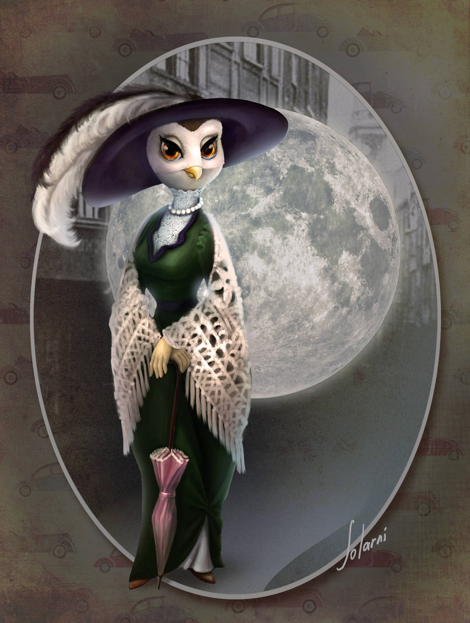 Серия персонажей, personal art, Owl