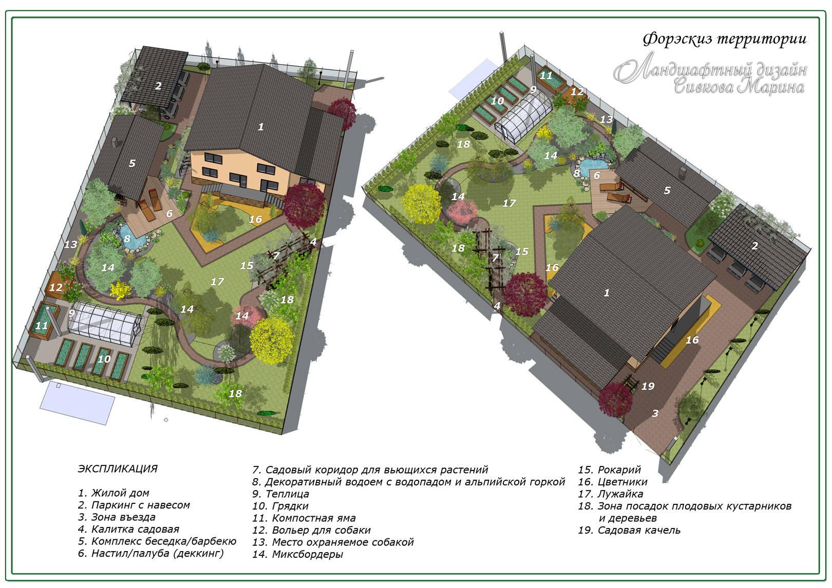 Ландшафтный проект Сад для Жизни