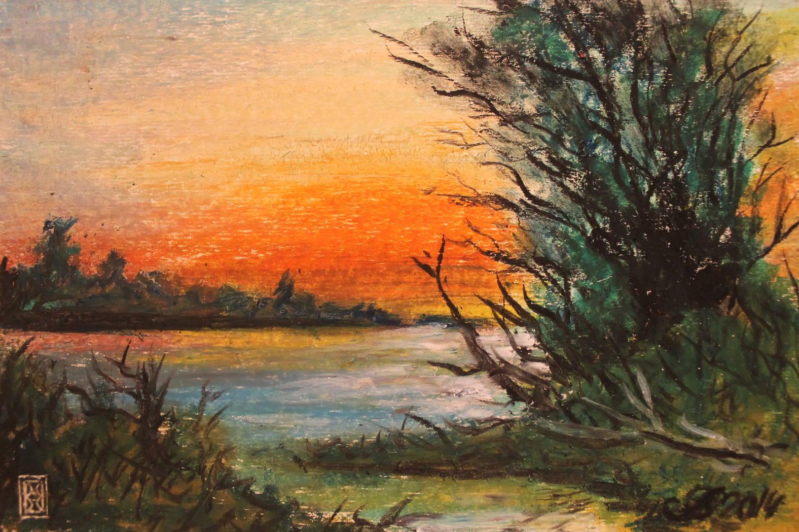 ROVOAM GALLERY Озеро на закате