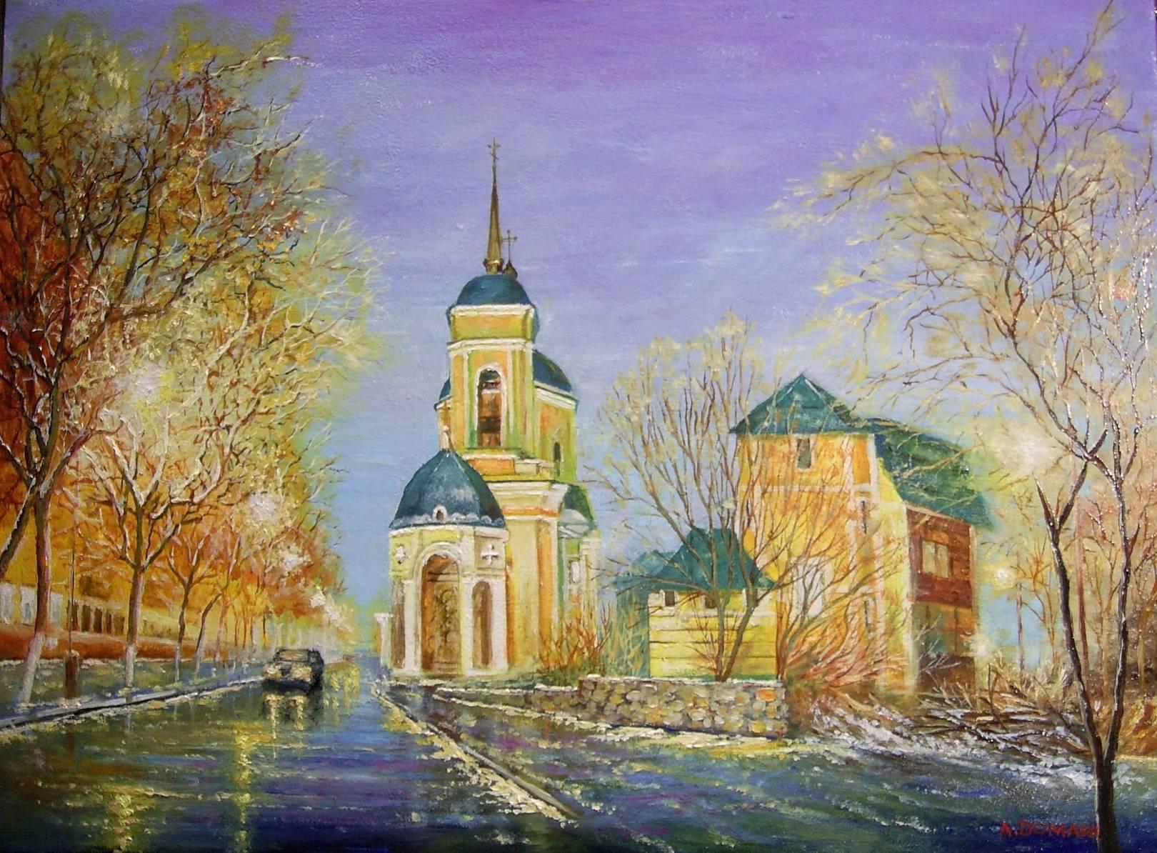 Воскресенская церковь ( холст , масло . 55 х 40 ) Мой импрессионизм