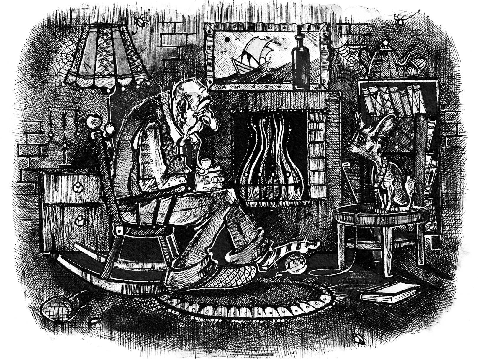"""""""Старость"""". Иллюстрация к книге рассказов А.Краузе"""