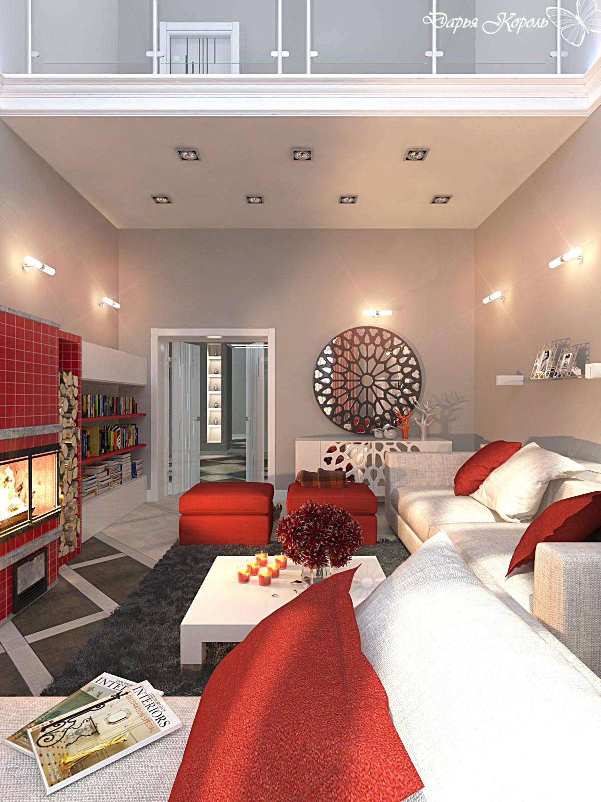 2х уровневая гостиная