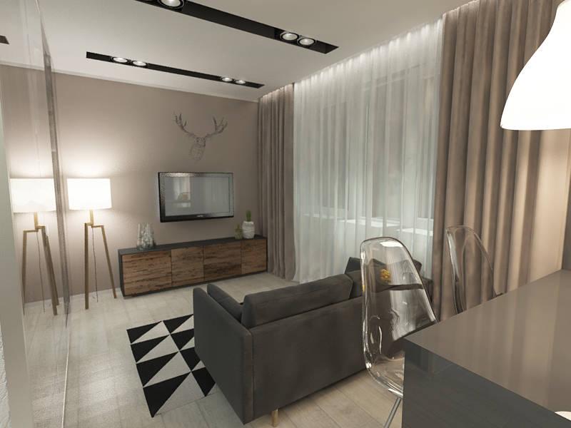 modern design apartment of 33 square meters