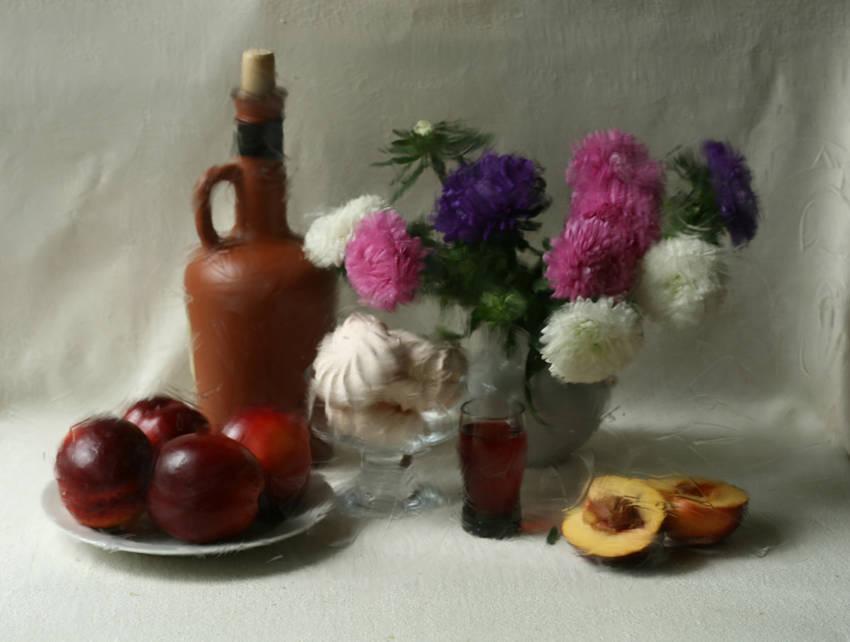 Десертный стол. (стекло, воск для волос)