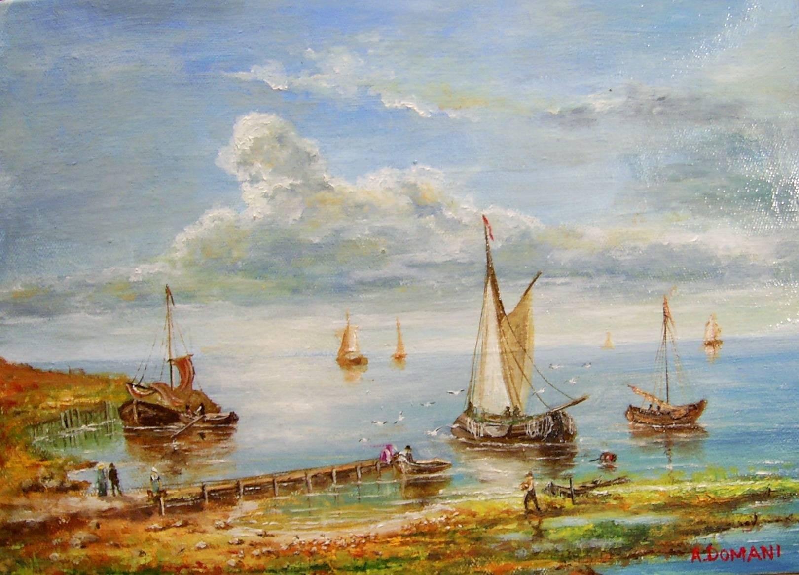 Морской пейзаж 3 ( холст , масло )