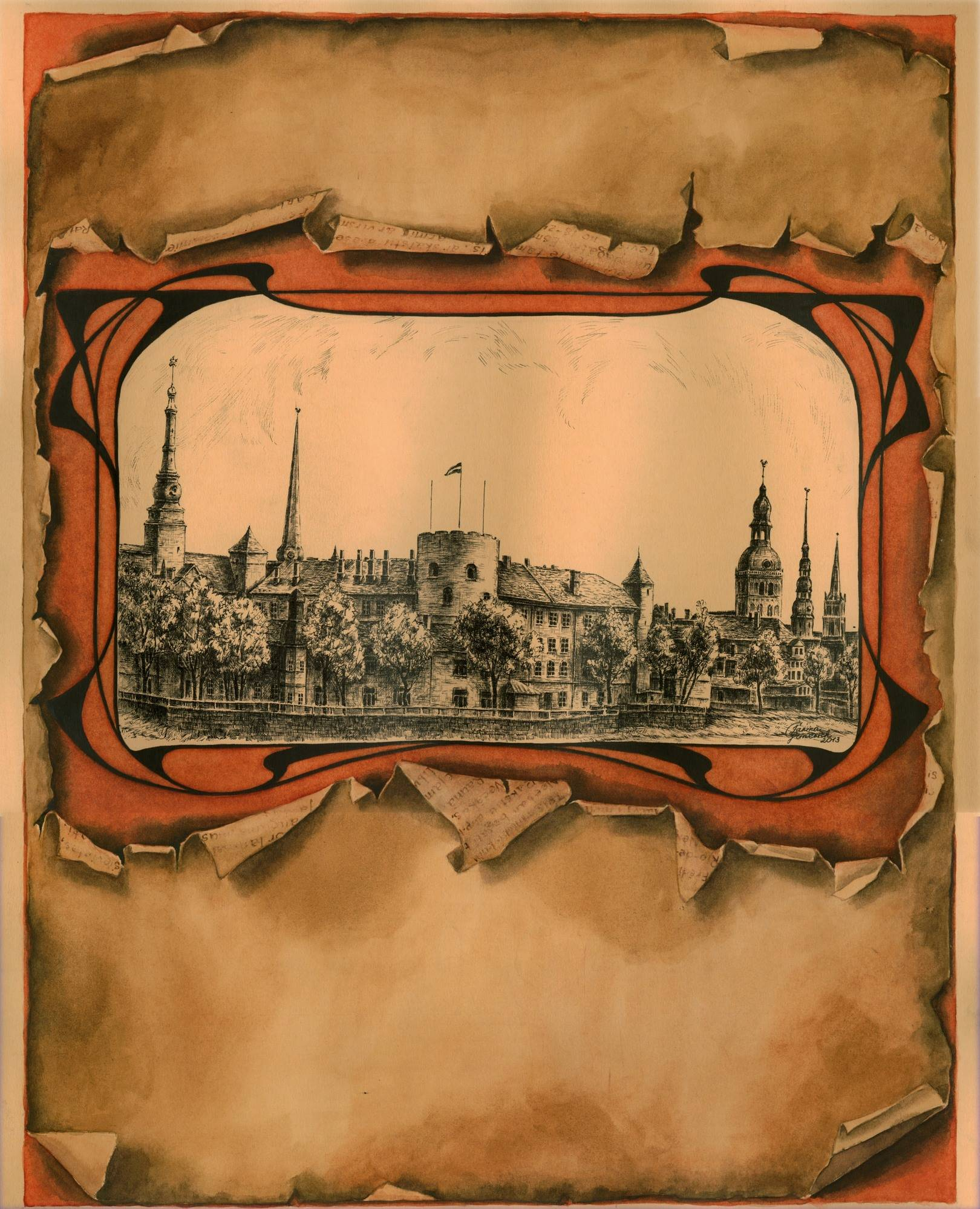 Old Riga in Centuries/ Старая Рига в столетиях