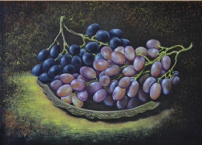 Виноград. Масло, холст
