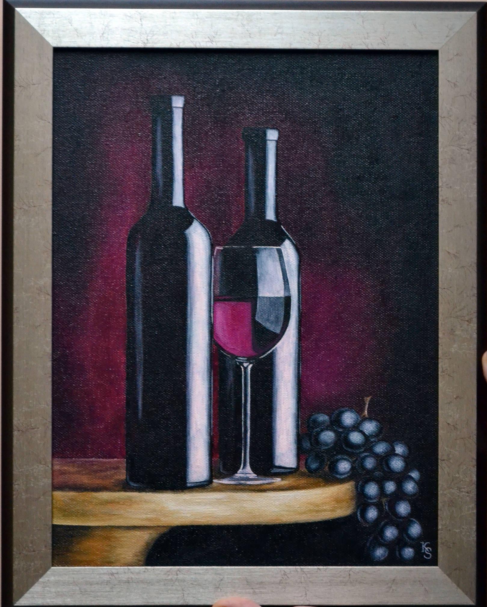 Натюрморт с виноградом. Масло, холст