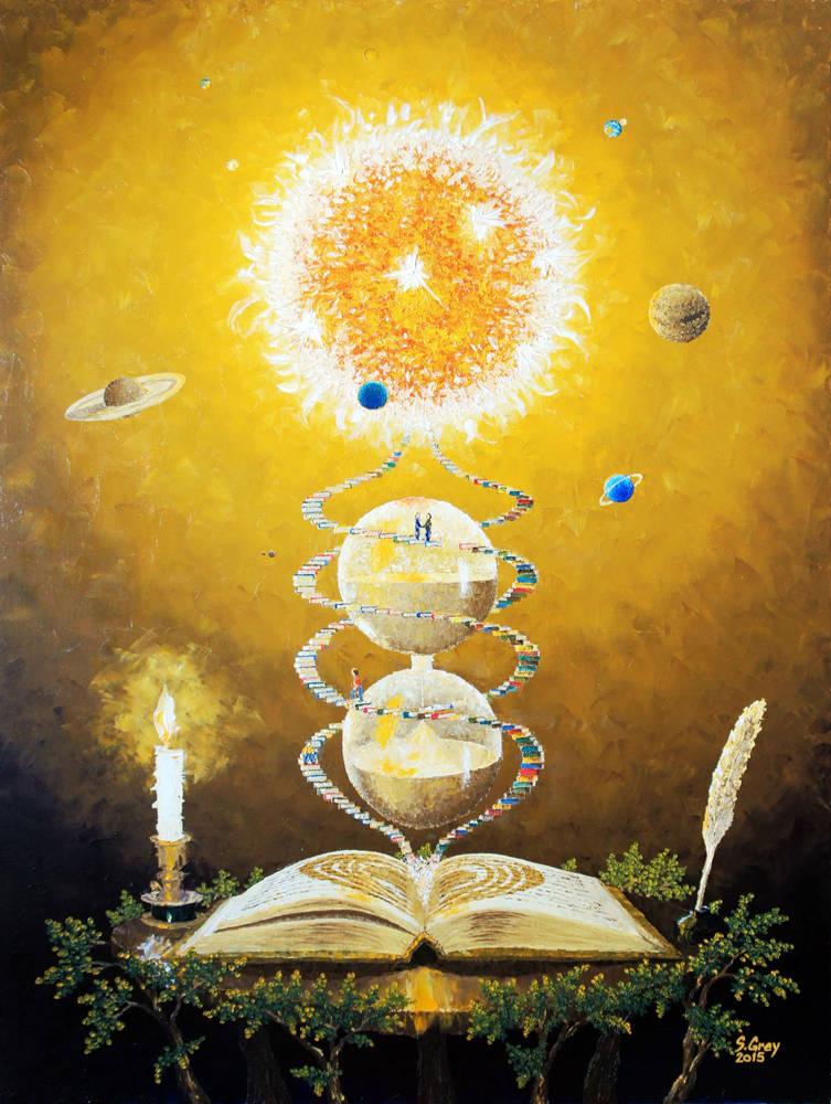 Книга - Знание II, 60х80 см., масло, холст, 2015